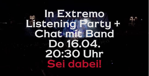 Listening-Party mit Band im Chat